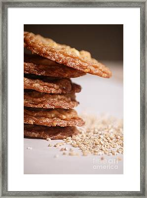 Oatmeal Cookies Framed Print by HD Connelly