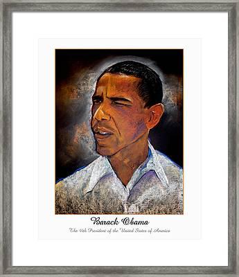 Obama. The 44th President. Framed Print by Fred Makubuya