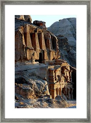 Obelisk Tomb & Bab Al Siq Triclinium Framed Print by Joe & Clair Carnegie / Libyan Soup