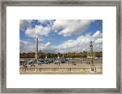 Obelisque Place De La Concorde. Paris. France Framed Print by Bernard Jaubert