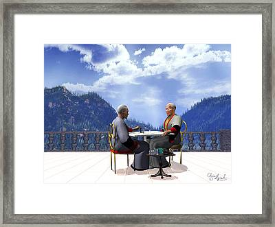 Obstinacy Framed Print by Christopher Lynch