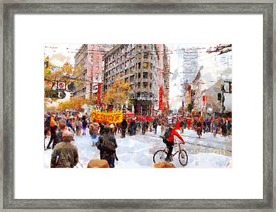 Occupy Sf Market Street . 7d9733 Framed Print by Wingsdomain Art and Photography