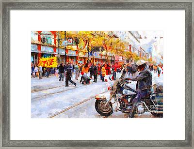 Occupy Sf Market Street . 7d9738 Framed Print by Wingsdomain Art and Photography