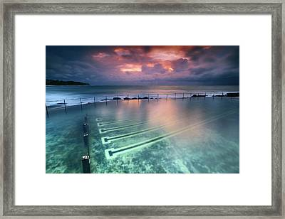 Ocean Baths Framed Print by Yury Prokopenko
