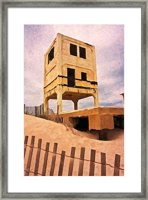 Ocean City Fishing Pier Remnants Framed Print by Betsy C Knapp