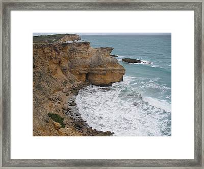 Ocean Cliffs Framed Print by Melissa Torres