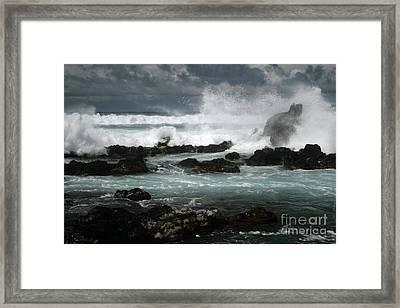 Ocean In Motion Framed Print by Sharon Mau