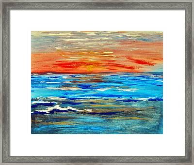 Ocean Sunset Framed Print by Amanda Dinan