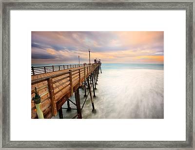 Oceanside Sunset 5 Framed Print by Larry Marshall