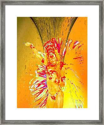 Ochun Miel Framed Print by Liz Loz