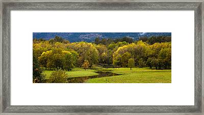 October Serenity Framed Print by Mike Reid