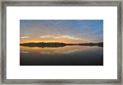 October Sky Framed Print by Brian Mollenkopf