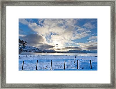 October Snow Framed Print by Frank Olsen