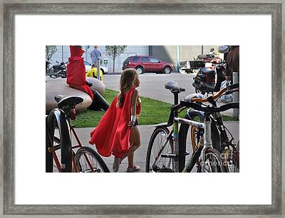 Off To Save The World- Back By Naptime Framed Print by Anjanette Douglas