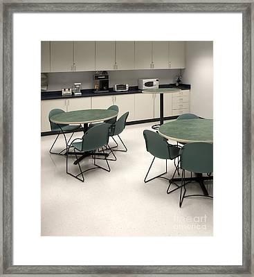 Office Break Room Framed Print by Will & Deni McIntyre