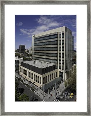 Office Building Framed Print by Robert Pisano