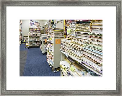 Office Files Framed Print by Andersen Ross