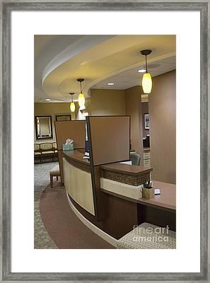 Office Reception Area Framed Print by Andersen Ross