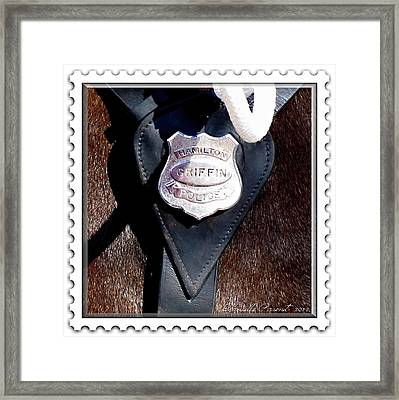Officer Griffin Framed Print by Danielle  Parent