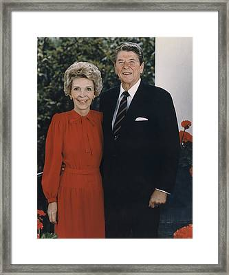 Official Second Term Portrait Framed Print by Everett