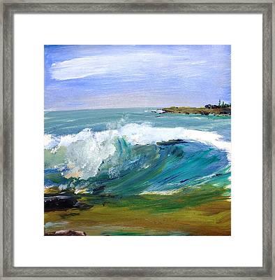 Ogunquit Beach Wave Framed Print by Scott Nelson