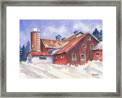 Ohio Barn Framed Print by Marsha Elliott