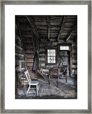 Ohio Cabin Framed Print by Joan  Minchak
