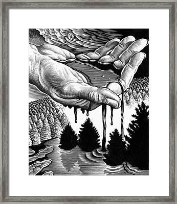 Oil Pollution Framed Print by Bill Sanderson