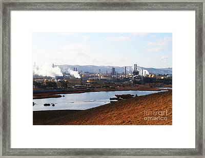 Oil Refinery Industrial Plant In Martinez California . 7d10393 Framed Print by Wingsdomain Art and Photography