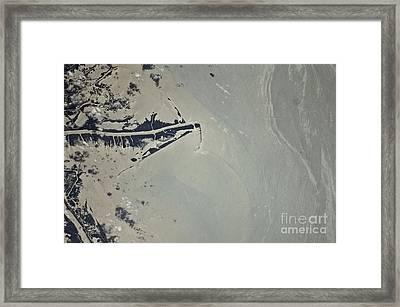 Oil Slick, Mississippi River Delta Framed Print by NASA/Science Source