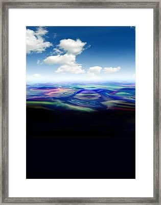 Oil Spill, Artwork Framed Print by Victor Habbick Visions