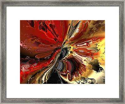 Ok Who Spilled The Paint Framed Print by Claude McCoy