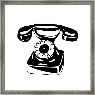 Old Analogue Phone Framed Print by Michal Boubin