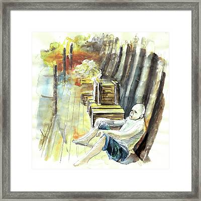 Old And Lonely In Portugal 08 Framed Print by Miki De Goodaboom