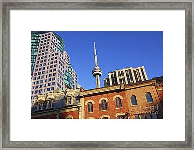 Old And New Toronto Framed Print by Elena Elisseeva
