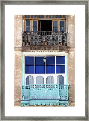 Old And New With Same View Framed Print by Darcy Michaelchuk