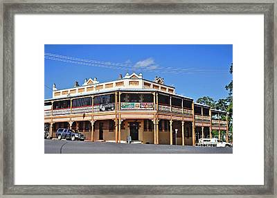 Old Aussie Pub Framed Print by Kaye Menner