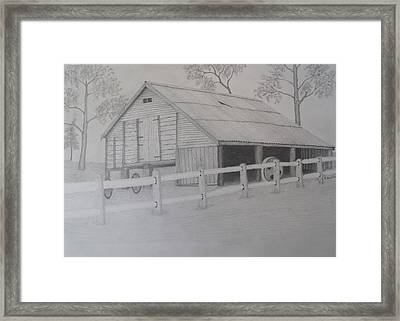 Old Austane Barn Framed Print by Brian Leverton