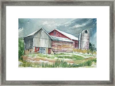 Old Barn Framed Print by Rose McIlrath