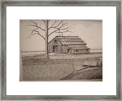 Old Barn2 Framed Print by William Deering