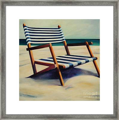 Old Beach Chair Framed Print by Mary Naylor