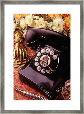 Old Bell Telephone Framed Print by Garry Gay