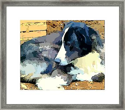 Old Blue Framed Print by Mindy Newman