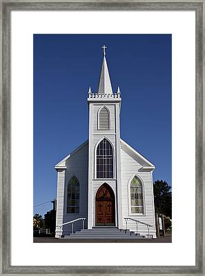 Old Bodega Church Framed Print by Garry Gay