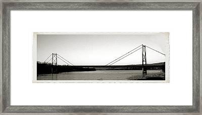 Old Bridge Framed Print by Jonathan Lagace