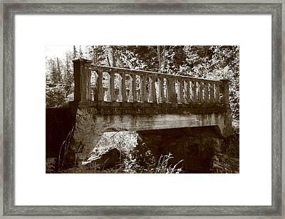 Old Bridge Framed Print by Paula Brown