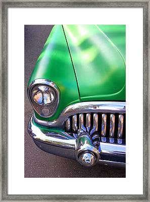 Old Buick Details Framed Print by Valentino Visentini