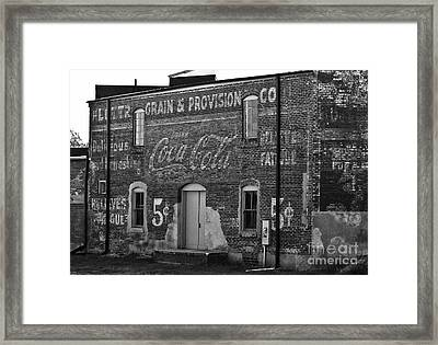 Old Building In Salisbury Nc Framed Print by Wilma  Birdwell