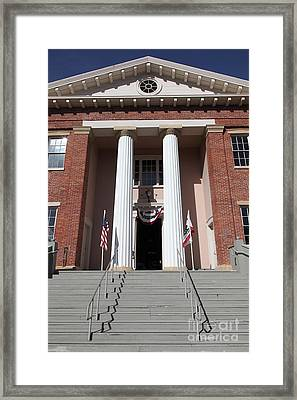 Old California State Capitol - Benicia California - 5d18808 Framed Print by Wingsdomain Art and Photography