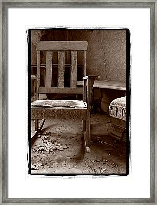 Old Chair Bodie California Framed Print by Steve Gadomski